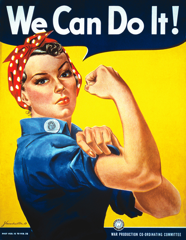 """Vintage Image of the """"We can do it!"""" Rosie the Riveter Poster by"""
