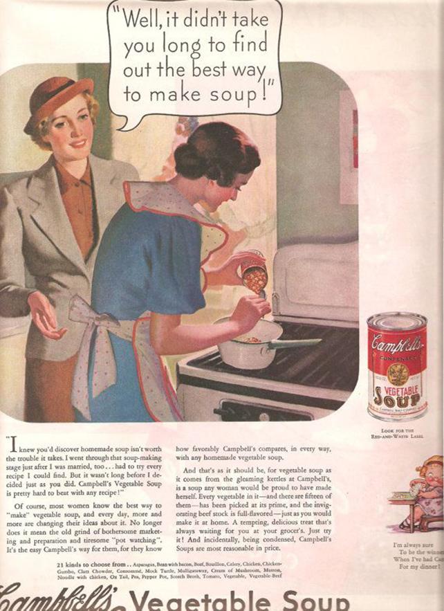 1936 CAMPBELL'S SOUP Original Vintage Magazine